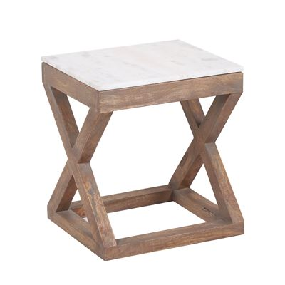 Kingston Marble Top End Table