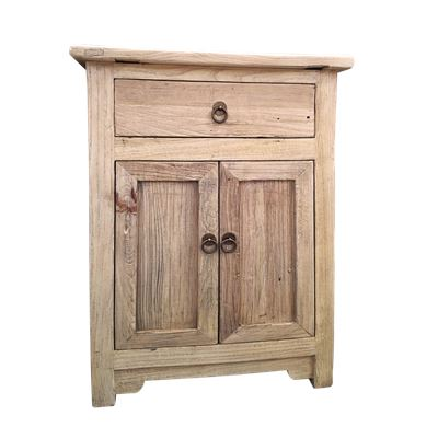 Reclaimed 1 Drawer 2 Door Cabinet 58x38x84