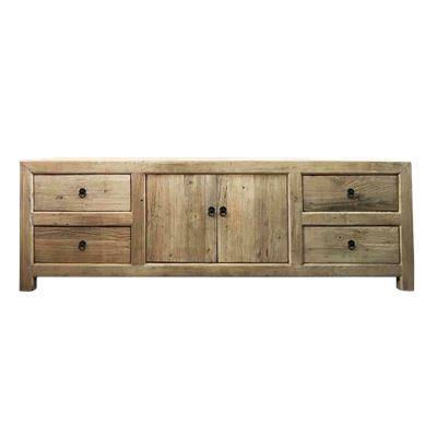 Reclaimed 4 Drawer 2 Door Cabinet 180x40x60