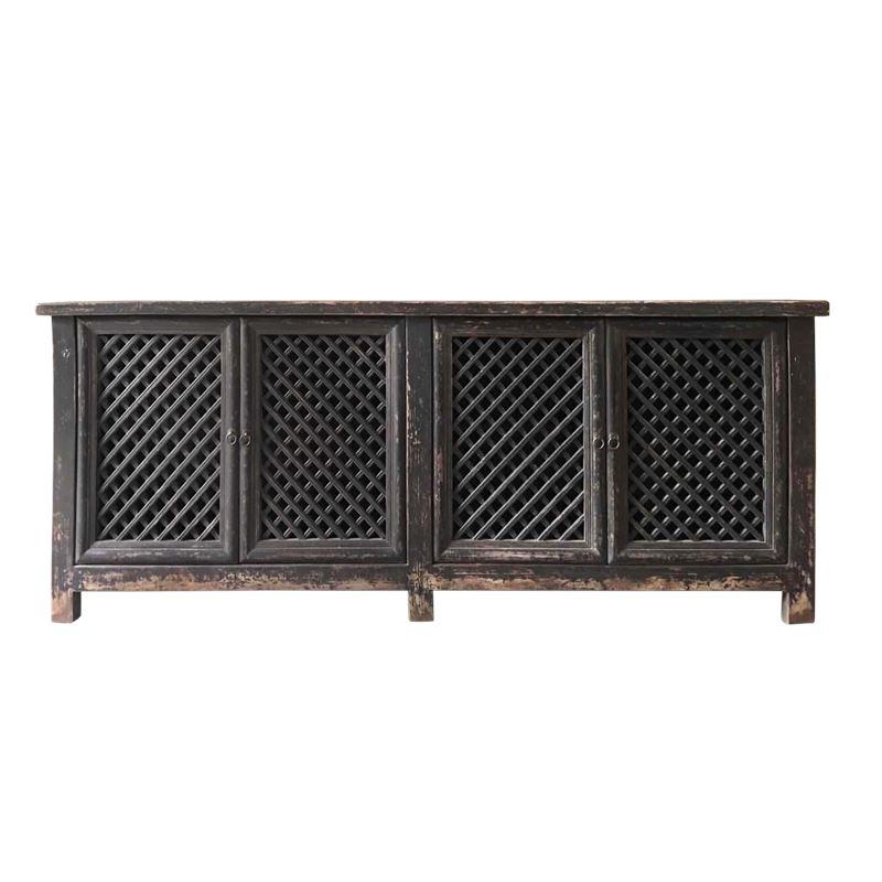 Reclaimed Lattice 4 Door Cabinet 246x45x97