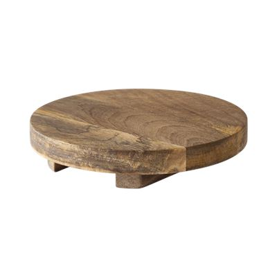 Rustic Mango Wood Footed Serving Board Round 25cm