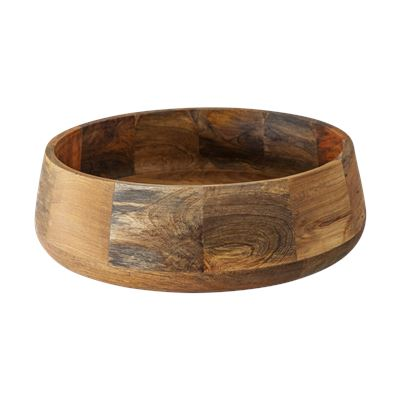 Rustic Mango Wood Serving Bowl 35cm