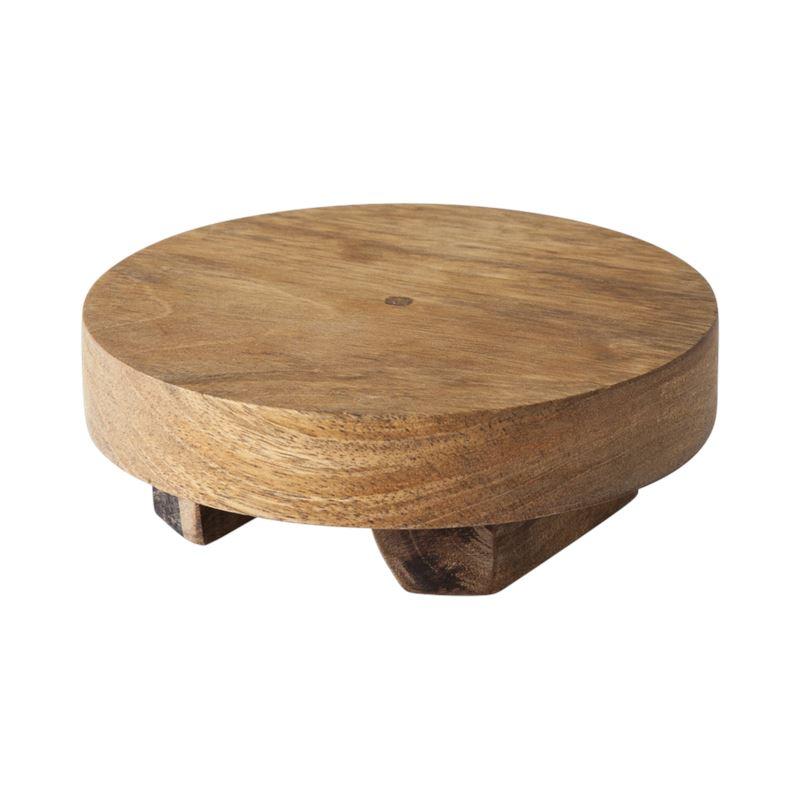 Rustic Mango Wood Footed Serving Board 15cm