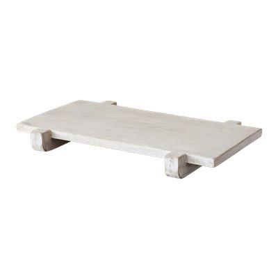 Whitewash Mango Wood Footed Serving Board 40 x 25cm