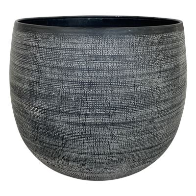 Hammered Planter Pot Large 38x39cm Black