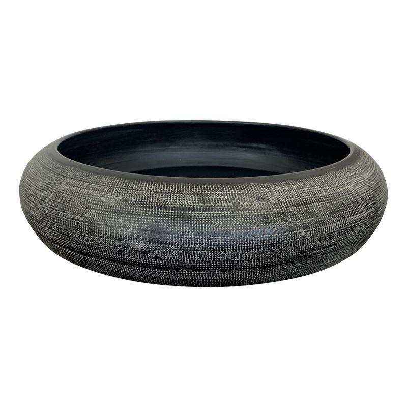 Hammered Bowl 47cm Black