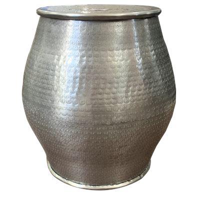 Hammered Dholak Stool 39x27.5cm