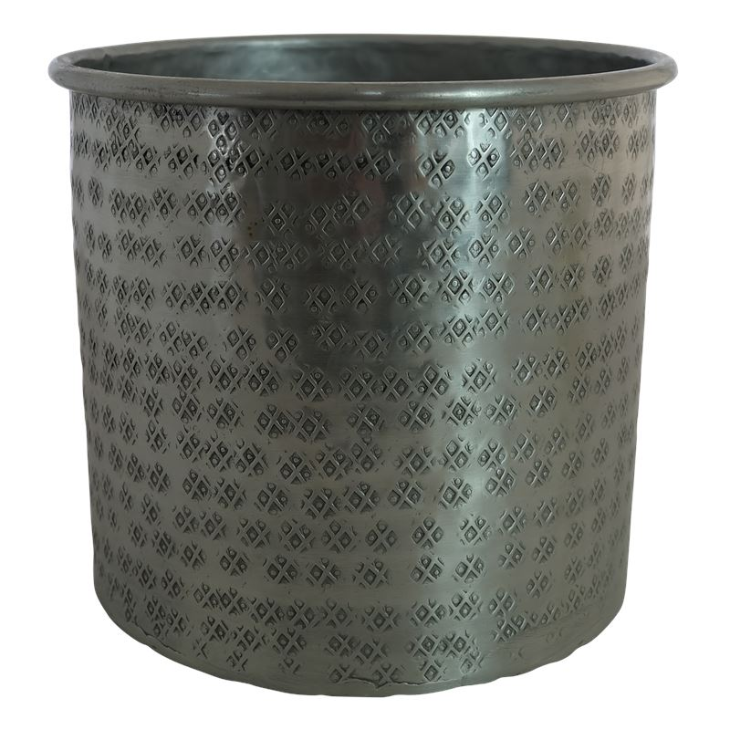 Hammered Planter Large Silver Star