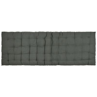 Quilted benchpad 120x45cm - Dark Grey