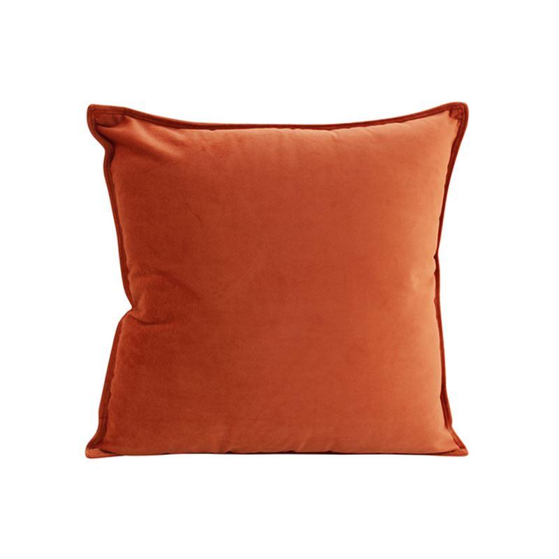 Velvet Cushion Burnt Orange 45×45