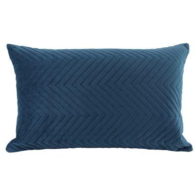 Velvet Quilted Cushion Ocean 30x50