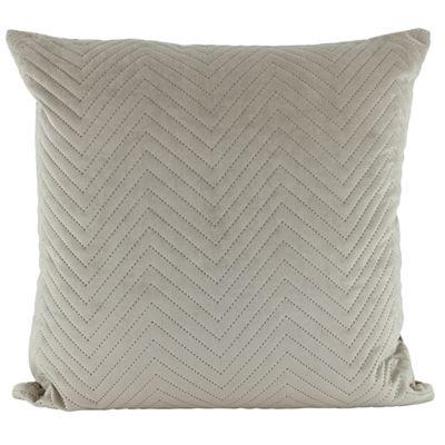Velvet Quilted Cushion Latte 50x50