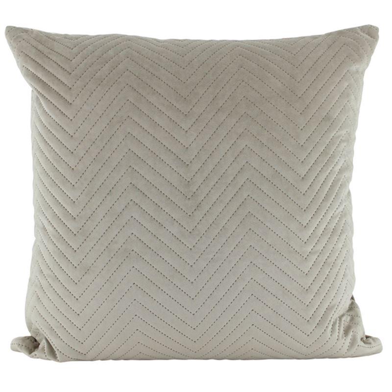 Velvet Quilted Cushion Latte 50×50