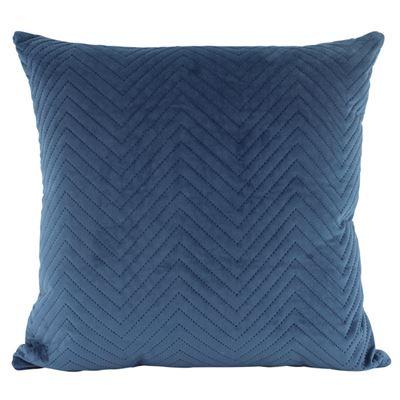Velvet Quilted Cushion Ocean 50x50