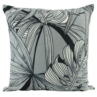 Linen Fern Cushion Grey 50x50