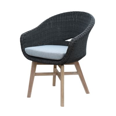 Bay Wicker Dining Chair Charcoal