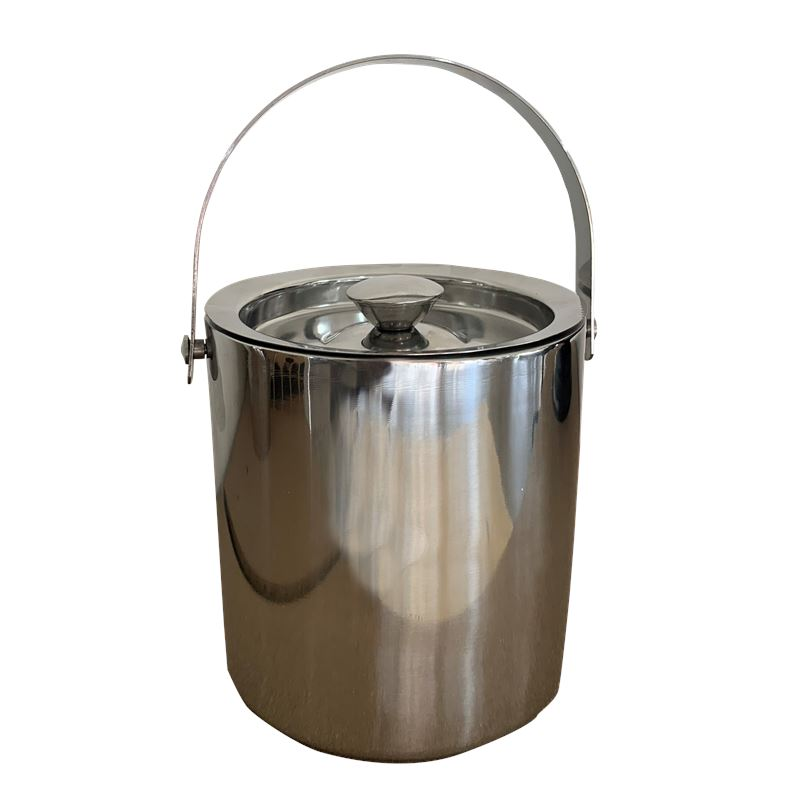 Double Walled Ice Bucket Silver
