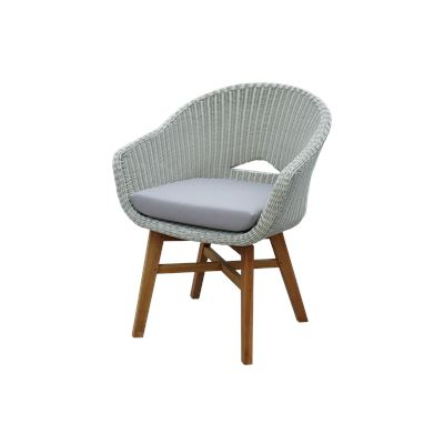Bay Wicker Dining Chair Taupe