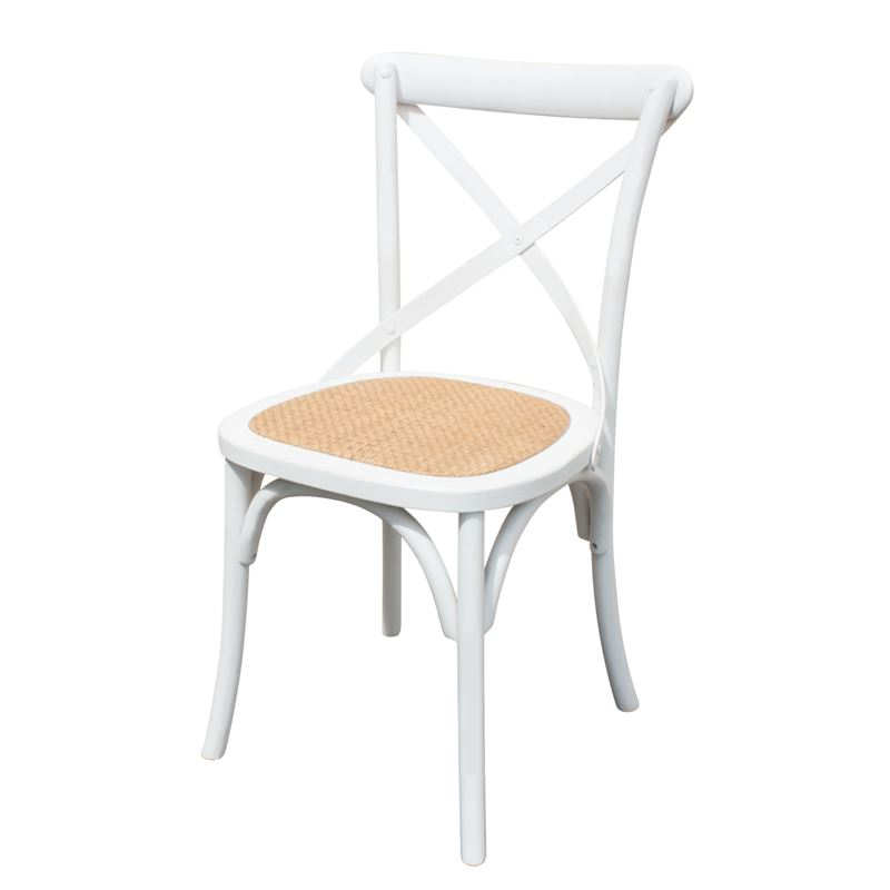 Cross Back Dining Chair White