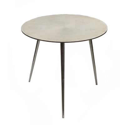 Goa Round Side Table Silver