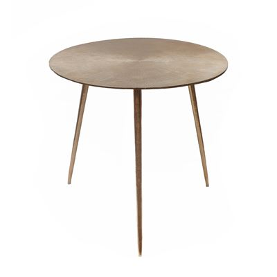 Goa Round Side Table Gold