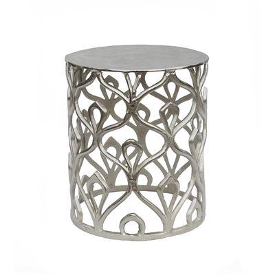 Darjeeling Round Side Table Silver