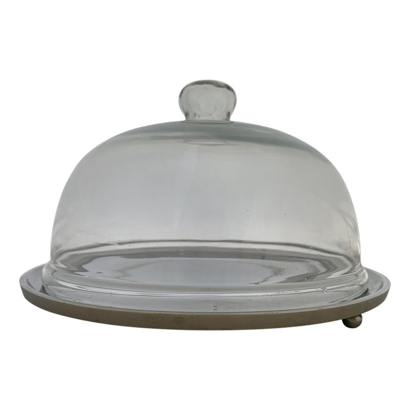 Yala Cake Dish with Glass Cover 28.5x18cm