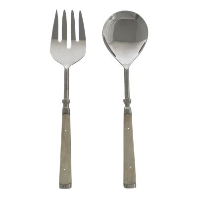 Off White Classic Salad Servers Set of 2