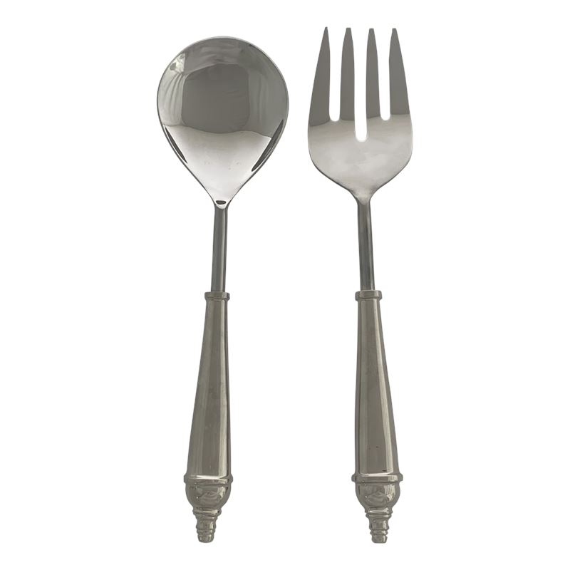 Classic Salad Servers Set of 2 Silver