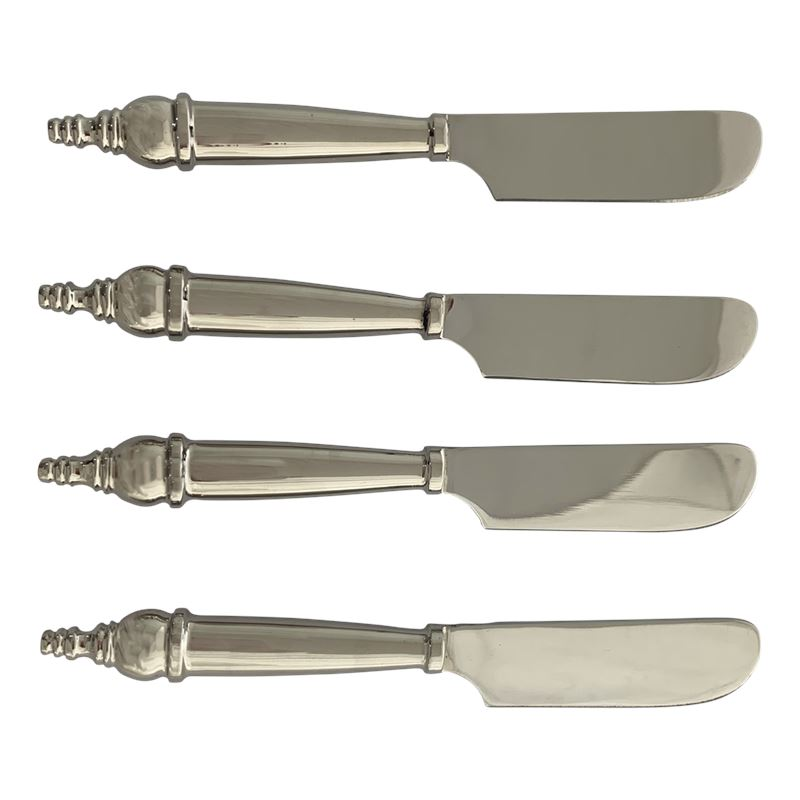 Classic Pate Knives Set of 4 Silver