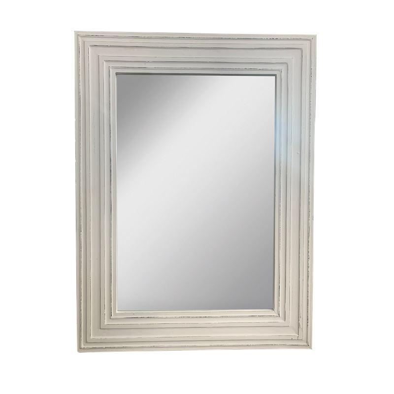 Isha Mirror White Antique 90x122cm
