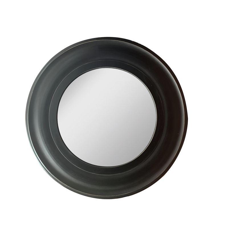 Isha Round Mirror Black Antique 90x90cm