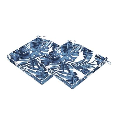 Set of 2 Palm Outdoor Seat Cushions 40x40cm