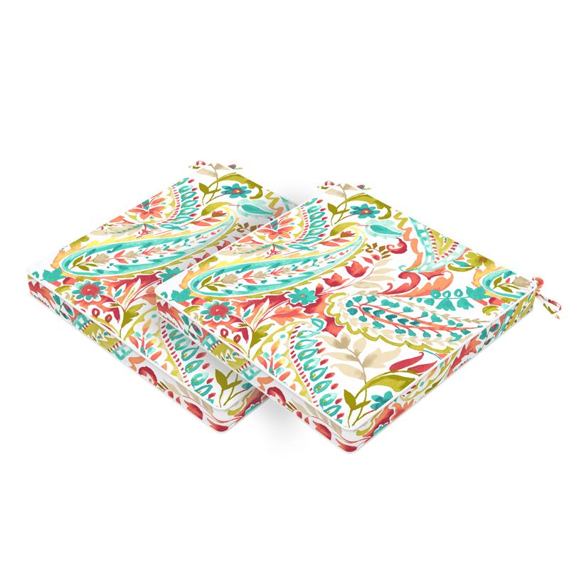 Set of 2 Jungle Outdoor Seat Cushions 40x40cm