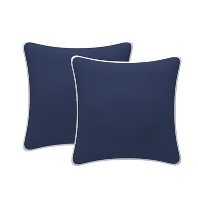 Set of 2 Scatter Outdoor Cushions Navy 43x43cm