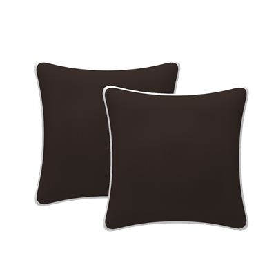 Set of 2 Scatter Outdoor Cushions Black 43x43cm