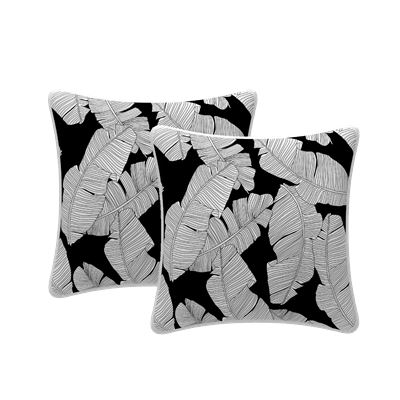 Set of 2 Leaf Scatter Outdoor Cushions 43x43cm