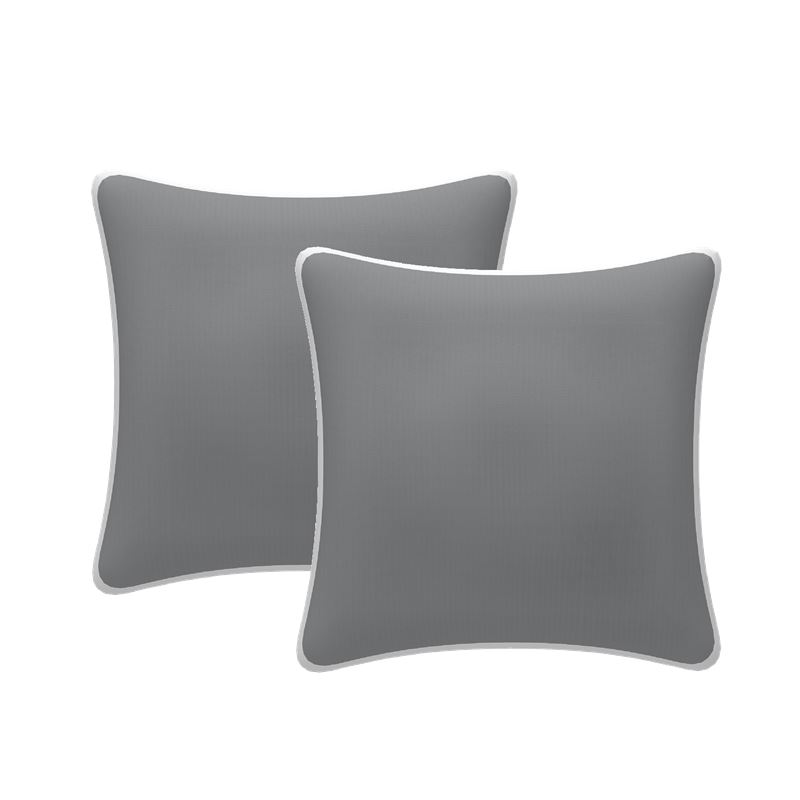 Set of 2 Scatter Outdoor Cushions Grey 43x43cm