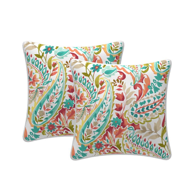 Set of 2 Jungle Scatter Outdoor Cushions 43x43cm