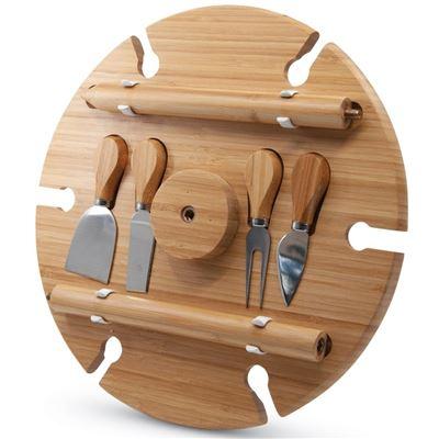 S&P Picnic Wine Tray Circle W/ Cheese Knives 33.5cm