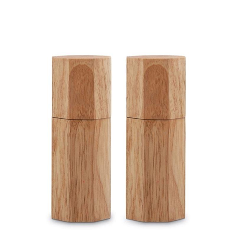 Grind Octagon Set Natural Salt/Pepper Mill 15cm S/2