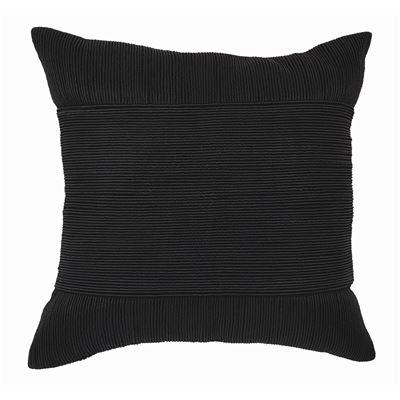 Tuxedo Square Cushion Black 50x50cm