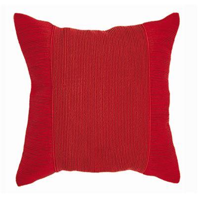 Tuxedo Square Cushion Red 50x50cm