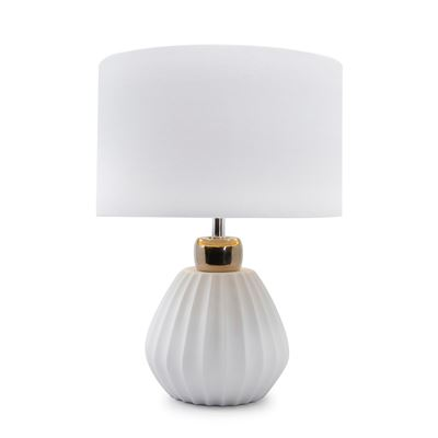S&P Lilou Table Lamp White and Gold 41cm