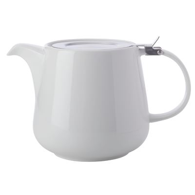 White Basics Teapot with Infuser 600ML White Gift Boxed