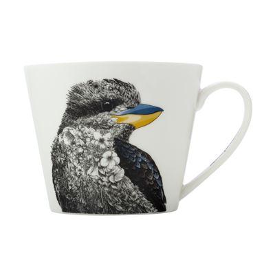 MW Marini Ferlazzo Birds Mug 450ML Squat Kookaburra Gift Boxed