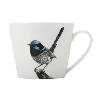 MW Marini Ferlazzo Birds Mug 450ML Squat Fairy Wren Gift Boxed