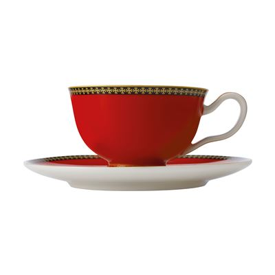 Teas & C's Contessa Classic Footed Cup & Saucer 200ML Red Gift Boxed