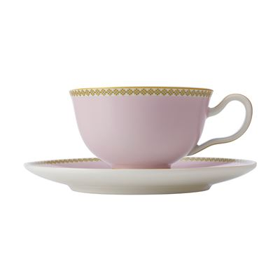 Teas & C's Contessa Classic Footed Cup & Saucer 200ML Pink Gift Boxed