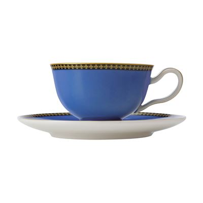 Teas & C's Contessa Classic Footed Cup & Saucer 200ML Blue Gift Boxed